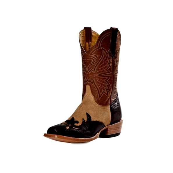 Cinch Western Boots Mens Cowboy Shoulder Blunt Toe Chocolate