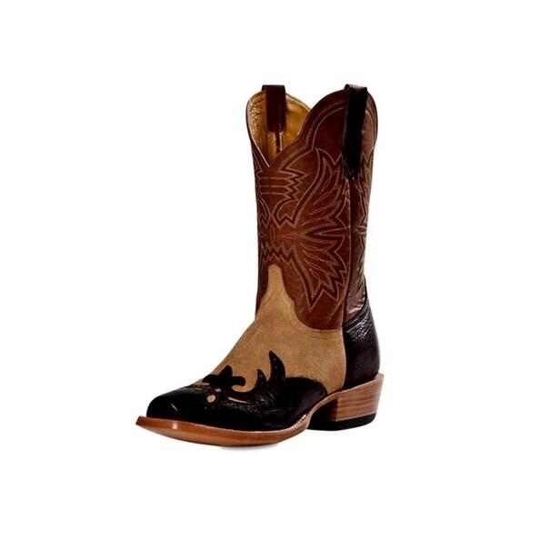 Cinch Western Boots Mens Cowboy Shoulder Blunt Toe Chocolate