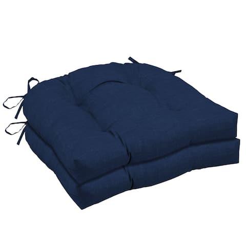 Arden Selections Sapphire Leala Wicker Seat Cushion 2-pack - 18 in L x 20 in W x 5 in H