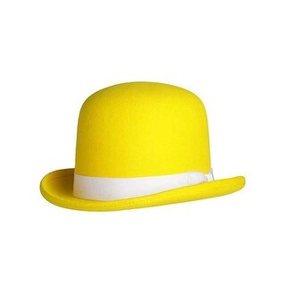 Tall Derby Bowler Hat in Yellow