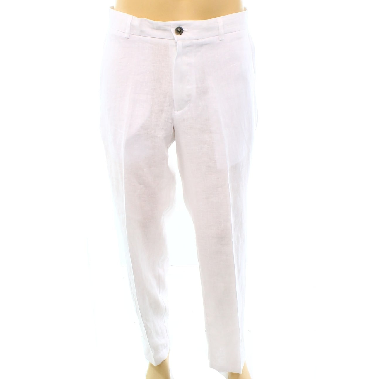 a0051a8a2 Mens White Linen Dress Slacks | Saddha
