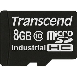 Transcend 8 GB Class 10 microSDHC Flash Memory Card TS8GUSDHC10 - Black
