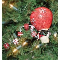 Department 56 Air Balloon Santa Christmas Tree Decoration Chaser Light #99718 - RED