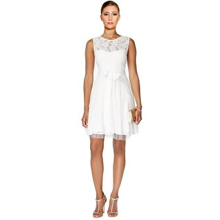 Betsy Adam Lace Tulle Fit & Flare Cocktail Day Dress - 12