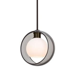 "Besa Lighting 1TT-MANASM-LED Mana Single Light 9"" Wide LED Mini Pendant"