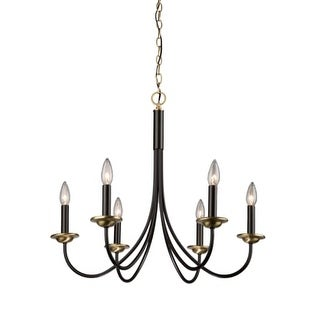 Artcraft Lighting AC1786 Single-Tier Chandelier with 6 Lights - 25 Inches Wide