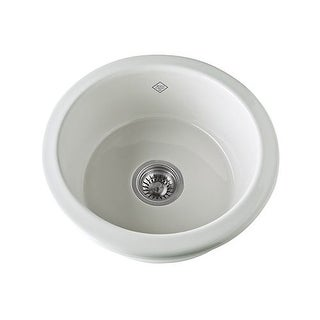 "Rohl UM1807 Shaws Original 15-1/8"" Single Basin Undermount or Drop-In Fireclay Bar/Prep Sink"