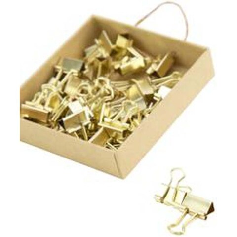 Gold; 40/Pkg - Mini Gold Binder Clips
