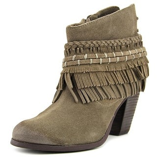 Naughty Monkey In Lyne Women  Round Toe Suede Brown Ankle Boot