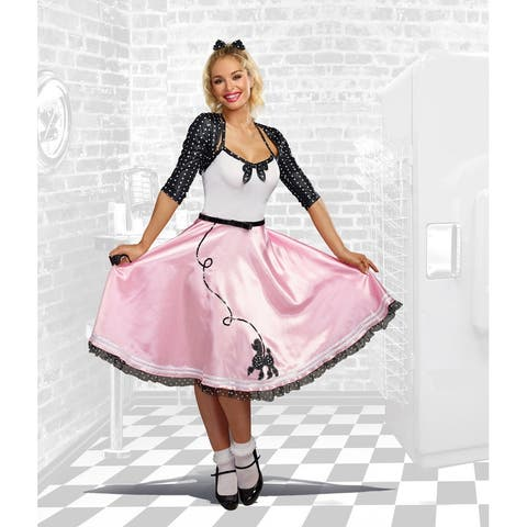Rock Around the Clock Women's Costume - Pink