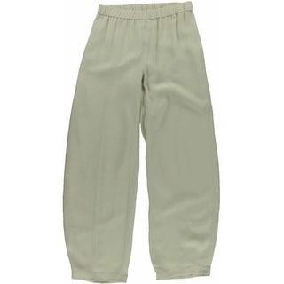 Eileen Fisher Womens Silk Pleated Dress Pants - XXS