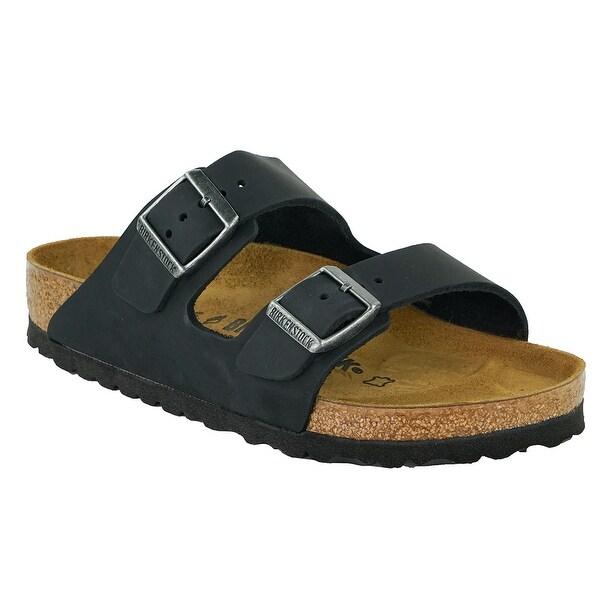 chaussures de séparation d108b 11635 Birkenstock Arizona Oiled Leather Sandals - Black - 35
