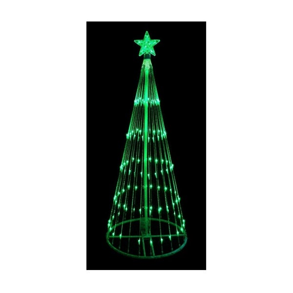 4' Green LED Light Show Cone Christmas Tree Lighted Outdoor Decoration