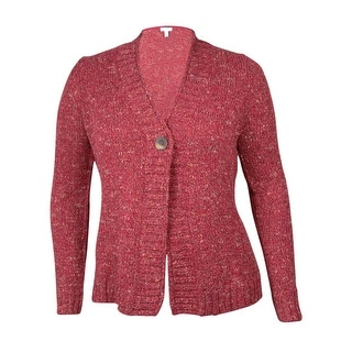 Charter Club Women's Single Button Marled Knit Cardigan Sweater