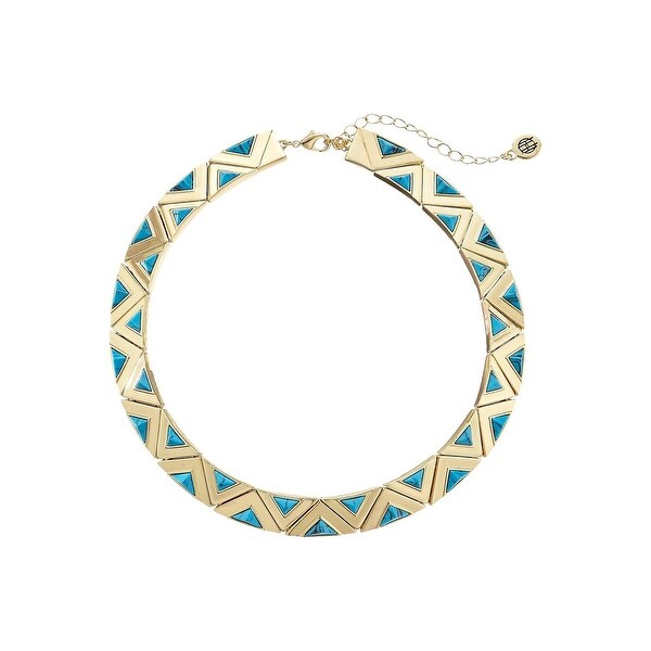 House of Harlow by Nicole Richie Womens Aura Collar Necklace Turquoise - Turquoise/Gold