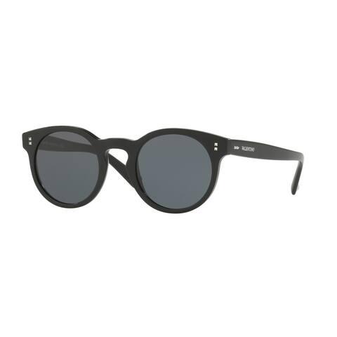Valentino VA4009 501087 47 Black Woman Round Sunglasses