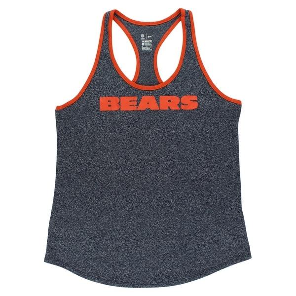 2e3d9df4 Nike Womens Chicago Bears NFL Marled Tank Top Heather Navy - heather  navy/orange