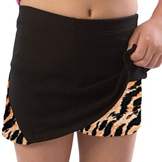 Pizzazz Girls Size 2T-16 Tiger Skirt With Boy Cut Shorts Dance Cheer