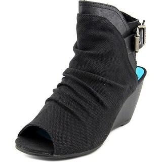 Blowfish Bestie Women Open-Toe Canvas Ankle Boot