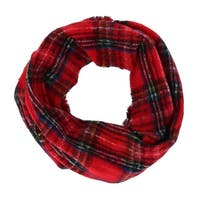 David & Young Women's Boucle Woven Plaid Infinity Loop Scarf - One size