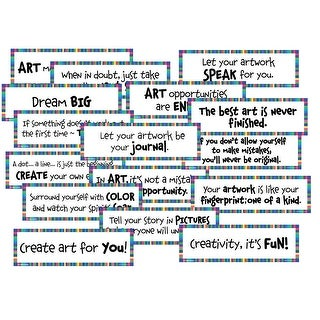 Crystal Productions Art Motivation Display Cards, 18 x 6 Inches, Set of 16