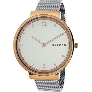 Skagen Women's Ancher Silver Stainless-Steel Quartz Fashion Watch