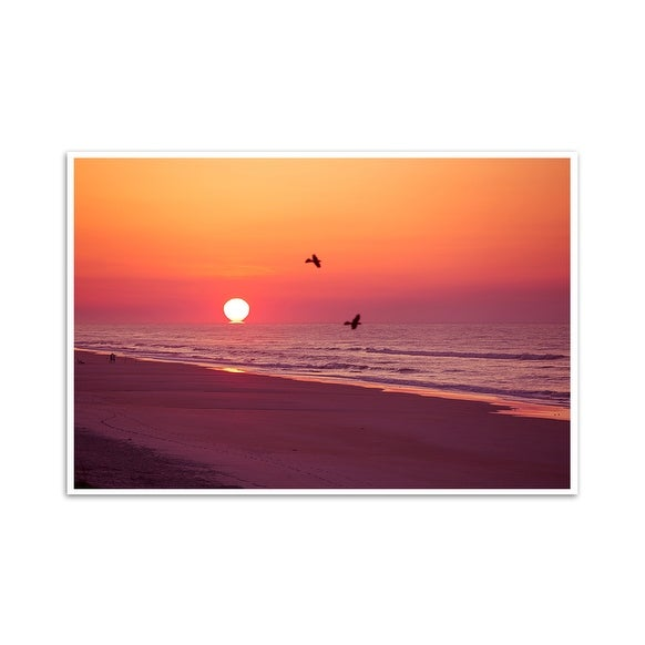 Sunrise - Topsail, North Carolina - Capturing America - 36x24 Matte Poster Print Wall Art