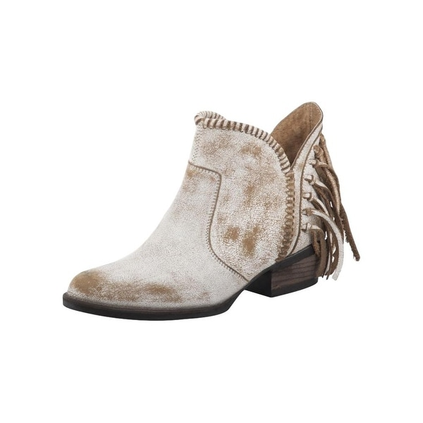 ce751f5daf2 Shop Corral Fashion Boots Womens Ankle Fringe Vintage White - Free Shipping  Today - Overstock - 22133109