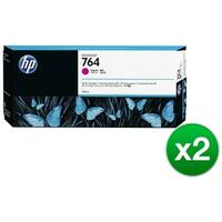 HP 764 300-ml Magenta DesignJet Ink Cartridge (C1Q14A) (2-Pack)