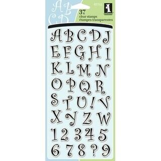 "Inkadinkado Clear Stamps 4""X8""-Curly Q Alphabet"