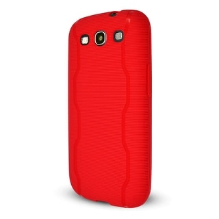 Technocel Textured Slider Skin Case Cover for Samsung Galaxy S3 (Red) - SAL710SS