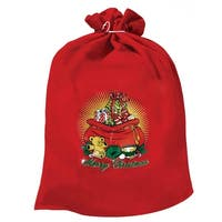 Santa Claus Toy Bag - Red