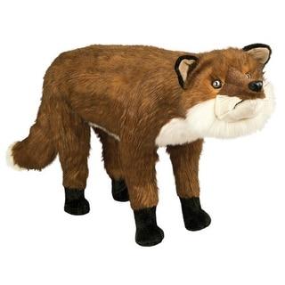 "34"" Soft Plush Standing Fox Stuffed Footrest Ottoman - Brown"