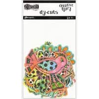 Colored Birds & Flowers - Dyan Reaveley's Dylusions Creative Dyary Die Cuts