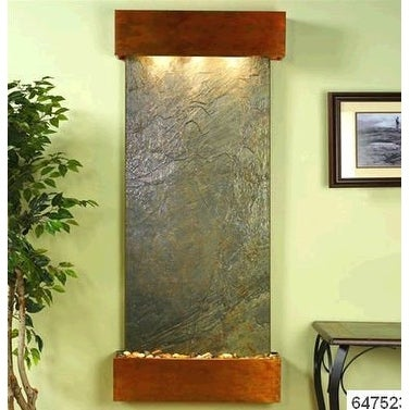 Adagio Inspiration Falls Wall Fountain Green FeatherStone Rustic Copper - IFS101