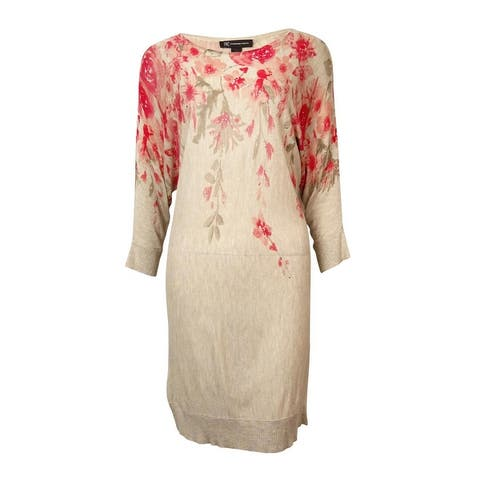 INC International Concepts Women's Printed Knit Tunic - Marching Floral