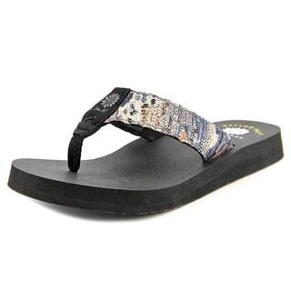 Yellow Box Denison Open Toe Canvas Flip Flop Sandal