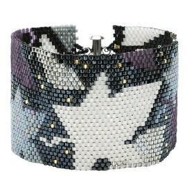 Peyote Bracelet Kit - Metallic Leaves - Exclusive Beadaholique Jewelry Kit