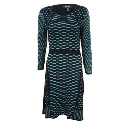 Nine West Women's Dot-Print Sweater Dress