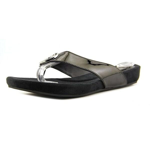 Giani Bernini Racchel Women Open Toe Synthetic Black Thong Sandal