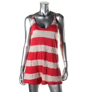 Lucky Brand Womens Striped Swimwear Romper Swim Cover-Up - XS/S