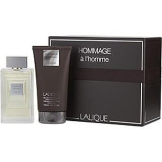 Lalique 291120 2 Piece Hommage a Lhomme Variety Gift Set for Men