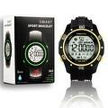 Indigi® Sports Styled Rugged Waterproof Bluetooth 4.0 Watch w/ Pedometer + SMS/Call Notification + StopWatch (Yellow) - Thumbnail 0