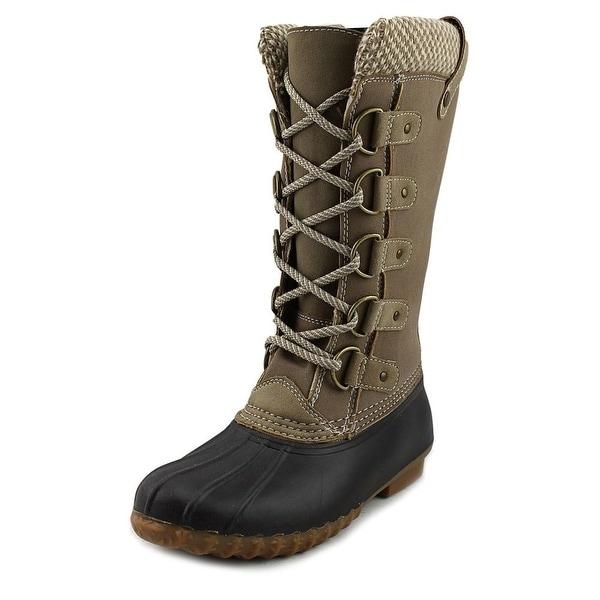 Esprit Bridget Women Round Toe Canvas Brown Winter Boot