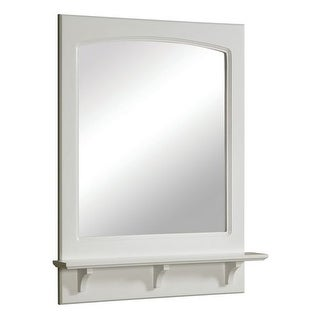 "Design House 539916 24"" Framed Mirror with Shelf from the Concord Collection"