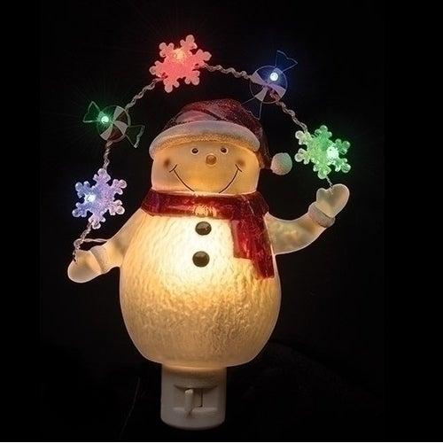 Snowman with Garland Night Light