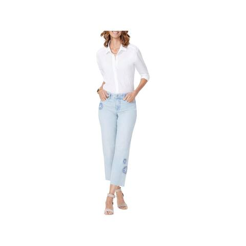 NYDJ Womens Jenna Ankle Jeans Denim Straight Leg