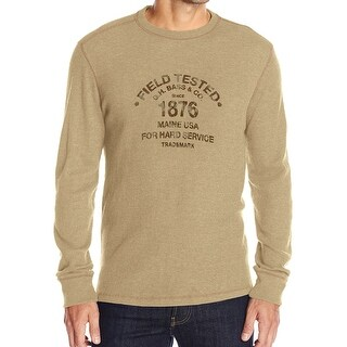 G.H. Bass & Co. NEW Beige Mens Size Large L Thermal Graphic Tee Shirt