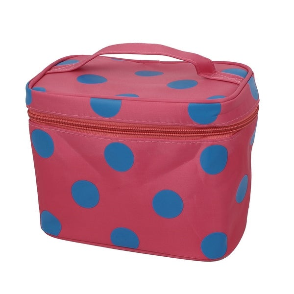 Shop Dots Pattern Zippered Cosmetic Makeup Storage Case