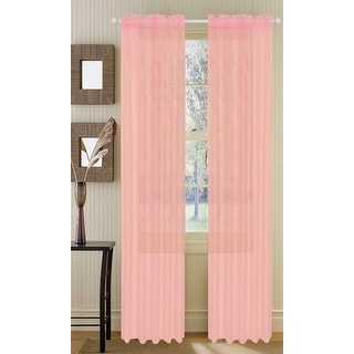 Barcelona Sheer Voile Window Treatment Panel, 55x90 Inches - 55x90 inches